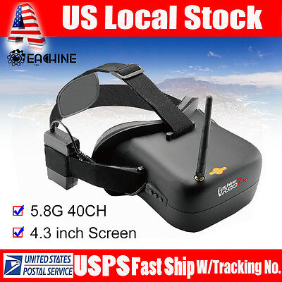 Eachine FPV Goggles VR-007PRO 5.8G 40CH 4.3 Inch TFT LCD Monitor 1600mAh Battery