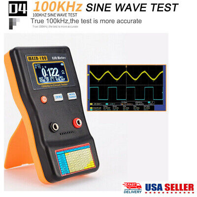 Mesr-100 V2 Esrlow Ohm In Circuit Test Capacitor Meter Smd Clip Probe Us