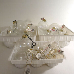 Christmas Decorations Glass Ornaments Balls Ice Cycles Hearts