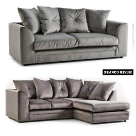 💯Brand new 3+2 Sofa/Corner in Plush Velvet with express Delivery 🚘