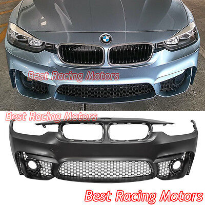 M3 (F80) Style Front Bumper Fit 12-18 BMW 3-Series 4dr F30 (Sedan) F31 (Touring)