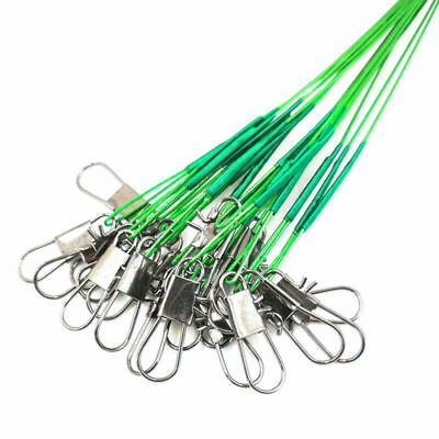 """10 X 12 """" WIRE SPINNING TRACES, PIKE , PERCH ,ZANDER FISHING TACKLE - LURE 30 cm"""