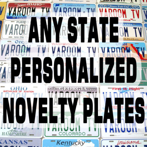 Personalized Customized Any US State Novelty Car Auto License Plate