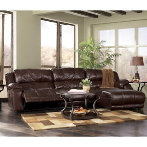 Leather Sectional Sofa/Couch with Chaise