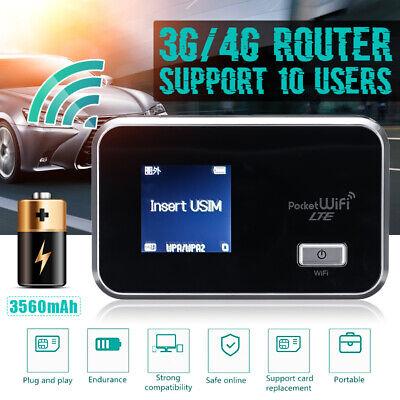 4G LTE LCD WIFI Wireless Router Mobile Modem 3560mAh Hotspot