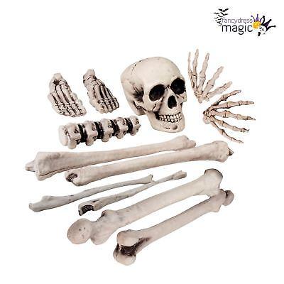 NEU Beutel mit Schädel und Knochen Friedhof Skelett Halloween Dekoration