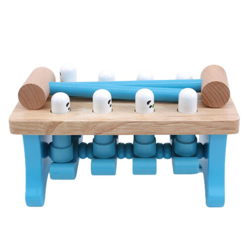 Toddlers Educational Wooden Pounding Bench Mallet Hammer Toy