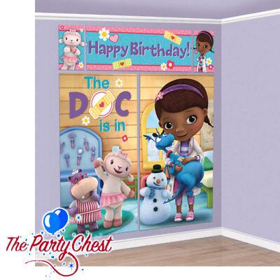 6FT DOC McSTUFFINS SCENE SETTER 5PC Girls Birthday Party Wall Decorations 97370 - Doc Mcstuffins Scene Setter