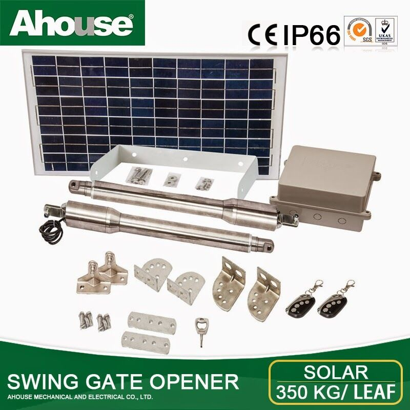 Solar  Double AUTOMATIC GATE OPENER  KIT  Up to 3.5 Meter Ahouse EM3+
