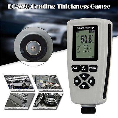 Digital Paint Coating Thickness Tester Meter Range 0 To 1300um Fn Probe Gauge