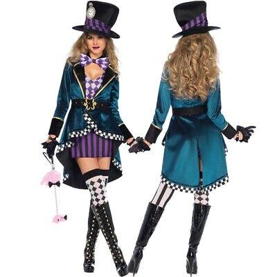 Damen Alice im Wunderland verrückte magische Kleid Kostüme Festivalparty Cosplay