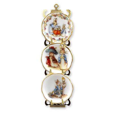 Dollhouse Miniature Beatrix Potter Plate Rack by Reutter Porcelain