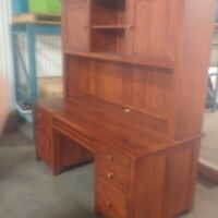 Solid Wood Desk and Matching Hutch very good quality