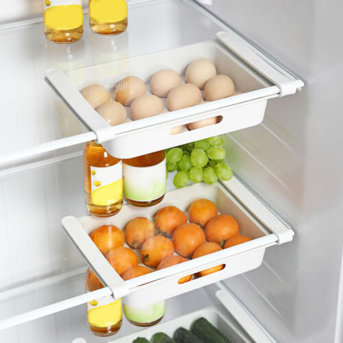 refrigerator food storage holder box rack fridge