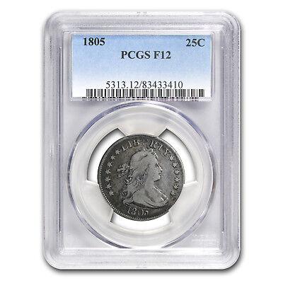 1805 Draped Bust Quarter Fine-12 PCGS - SKU #150170