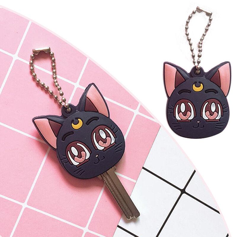 Sailor Moon Luna Purple Cat Keychain Pendant Figure Cosplay Cute Keyring Gift