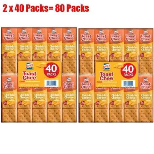 Lance ToastChee Cheddar Cheese (1.41 oz., 40 ct.) pack of 2