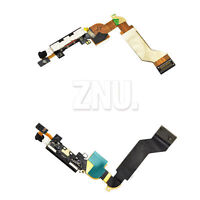 iPhone 4S Black or White Charger Port Dock Connector Flex Cable