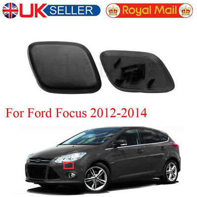 LH & RH Bumper Headlight Headlamp Washer Jet Cover Cap For Ford Focus 2012-2014