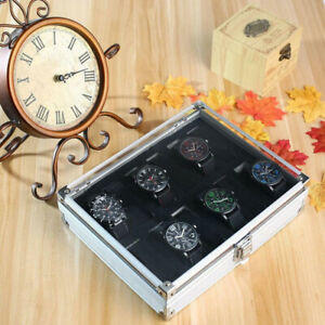 USED WATCH BOX, HOLDS 12 WATCHES, GOOD CONDITION