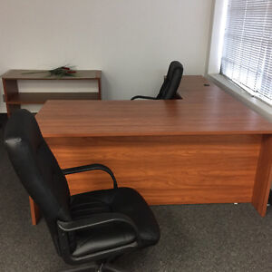 Complete office set up  desks boardroom cabinets chairs