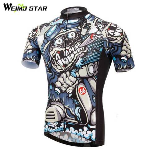 skull cycling jersey weimostar men bicycle short