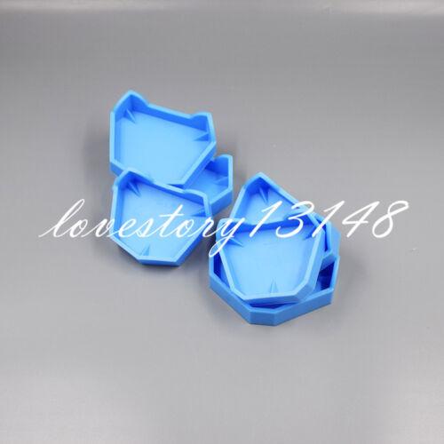 6 Pcs Dental Lab Plaster Model Former Base Mold Mould Tray Blue Silicone Rubber