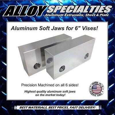 1.5 X 3 X 6 Fully Machined Premium Aluminum Soft Jaws For 6 Kurt Vise