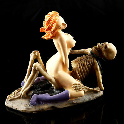 Aquarium Decor Halloween Crafts Skeleton Fish Tank Ornament Woman Resin Figurine