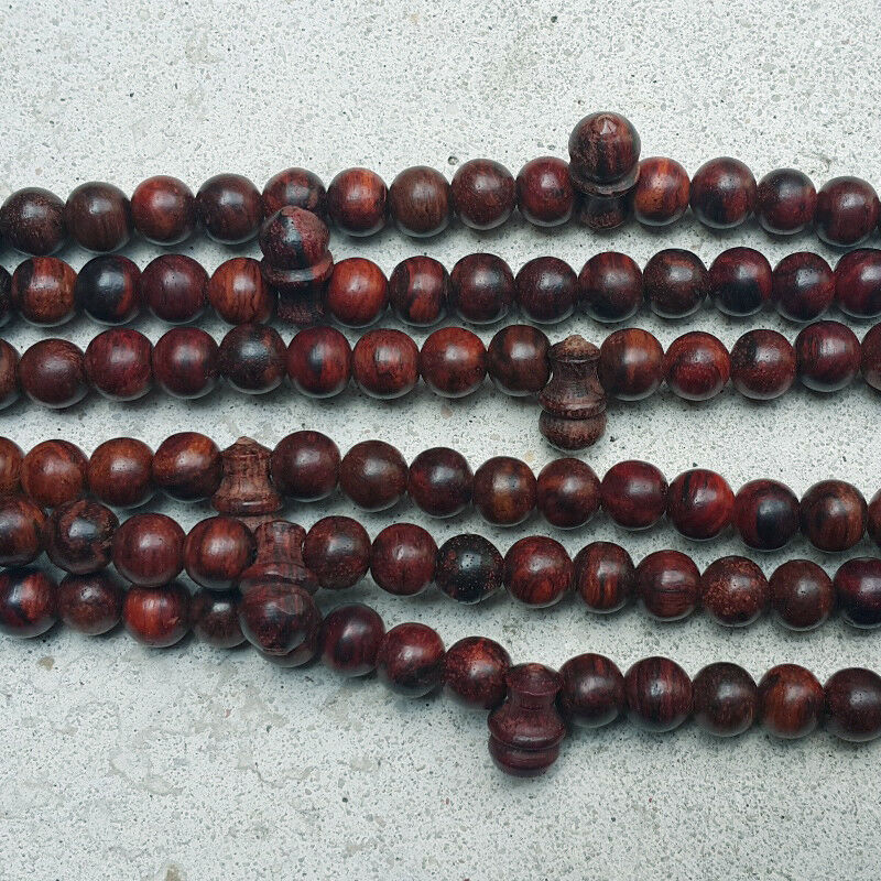 Islamic Tasbih 99 Beads Akar Laka 8 MM Dalbergia Parviflora Muslim Misbaha