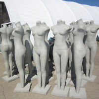 Mannequins - Female full body with same material base