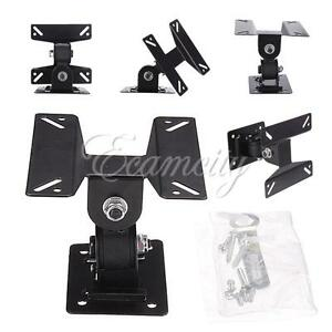 TV-LCD-Wall-Mount-Bracket-Monitor-Adjustable-Angle-Swivel-14-to-24-Flat-Panel