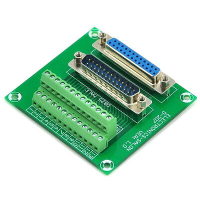 D-sub Db25 Male Female Header Breakout Board Terminal Block Connector.