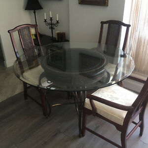 Downsizing...Beautiful table and chairs