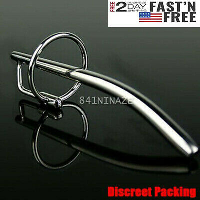 New Thru-hole Curving Stainless Steel Urethral Sounds Dilator Plug Free Ship