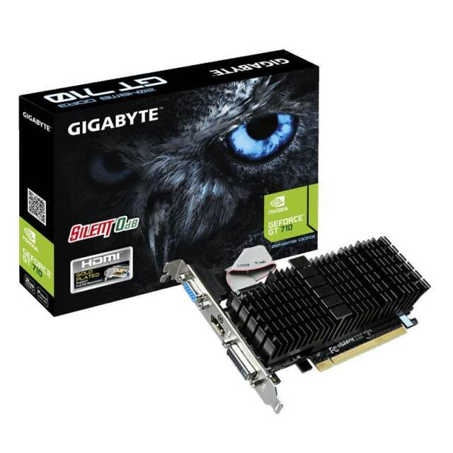 Gigabyte GeForce GT 710 2GB Silent Low Profile Video Card