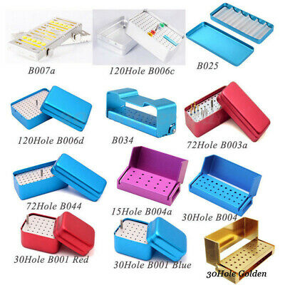 1x Dental Aluminium Autoclave Endo Bur Burs Holder Block Disinfection Box Choose