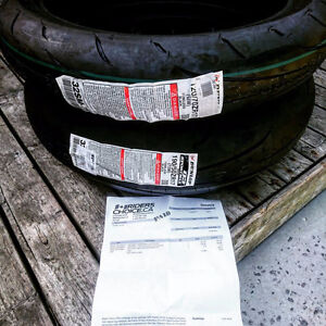 BRAND NEW DUNLOP Q3 SPORTBIKE TIRES WITH RECEIPT JUST YESTERDAY