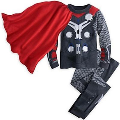 Kids Thor Costume (Thor Kids Toddler Boy Pajamas Sleepwear Tracksuit T-shirt Costume Set)
