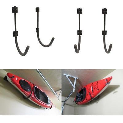 Used, Kayak Canoe Storage Wall Hanger Hook Rack Shelf Outdoor And Garage Mount 2-Pack for sale  USA