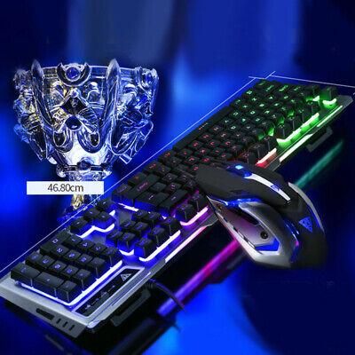 Mechanical Keyboard USB Cable Ergonomic Mechanical Gaming Keyboard+Mouse Set ()