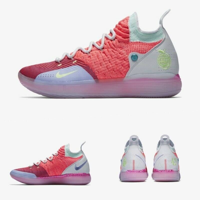 317c579db4b6 NIKE Zoom KD 11 EYBL Peach Jam Hot Punch Lime SIZE 6-13 AO2604-600 ...
