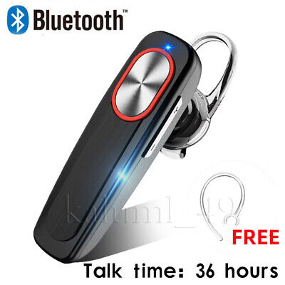 Wireless Bluetooth Headset Mobile Phone Hands Free Earpiece for iPhone Samsung