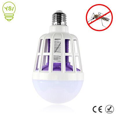 ZANZARIERA KILLER LAMPADINA LED E27 BULBO CON LUCE BLU ATTIRA E FULMINA ZANZARE