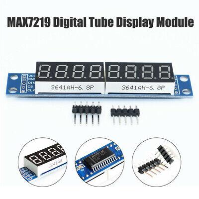 8 Digit 7 Seven Segment Tube Led Display Module Max7219 For Arduino Raspberry Pi