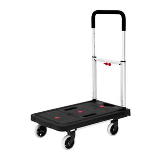 Dolly Cart Flatform 300lb Capacit 4 Wheel Folding Platform TrucK