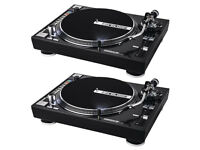 2 x rp8000 hybrid turntables 1 x behringer ddm4000 1x rane sl2 with all serato accesories