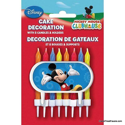 Mickey Mouse Cake Candle Disney BIRTHDAY Party Supplies Cupcake Holder - Minnie Mouse Cupcake Holders
