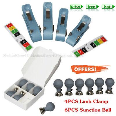 4.0 Universal 4pcs Chest Limb Clamp Electrode 6pcs Suction Ball For Ecg Machine