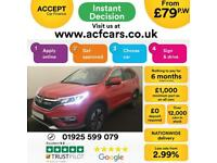 2016 RED HONDA CR-V 2.0 I-VTEC EX 4WD PETROL ESTATE CAR FINANCE FR £79 PW
